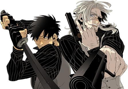 Gangsta. vai ser série anime pela Manglobe