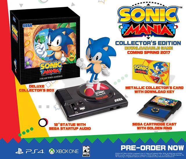 SEGA revela edição de colecionador de Sonic Mania