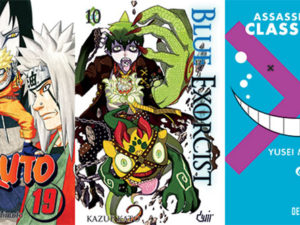 Assassination Classroom 6, Blue Exorcist 10 e Naruto 19 pela Devir