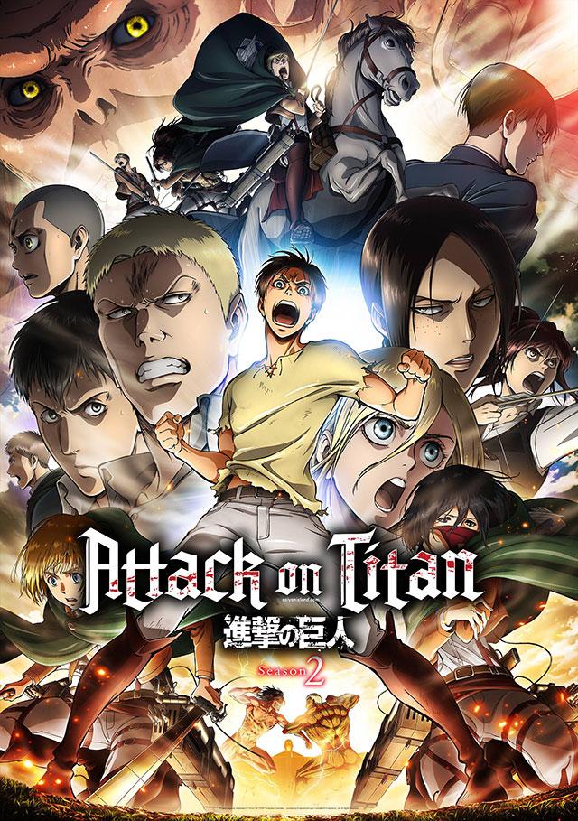 Attack on Titan 2 estreia a 1 de Abril - Poster