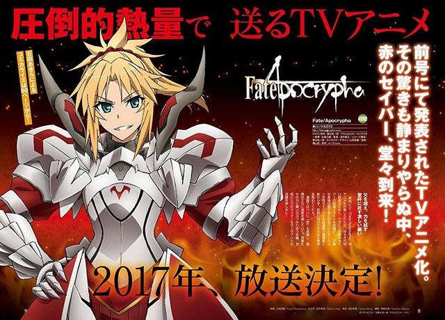 Fate/Apocrypha - Nova Imagem Promocional