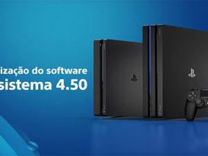 PlayStation 4 - Atualização 4.50