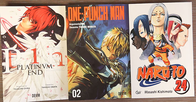 Devir - Platinum End 1, One-Punch Man 2 e Naruto 24