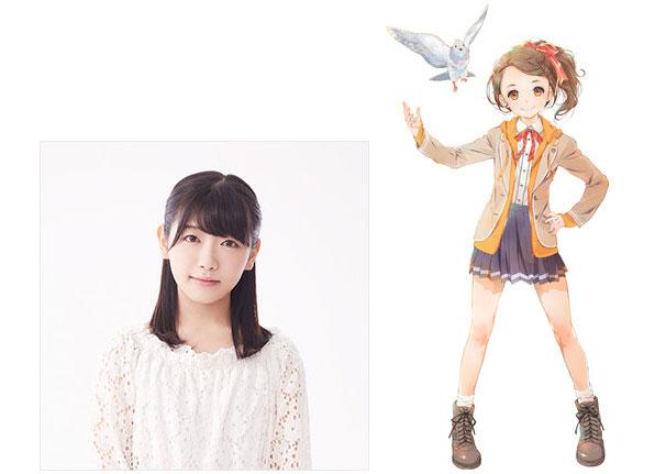 Mizuha Kuraoka como Miyako Kōno, 15 anos. Ela é egoísta e fala num dialeto Kansai. Design de personagem por Mieko Hosoi (Grimgar of Fantasy and Ash, Aiura)
