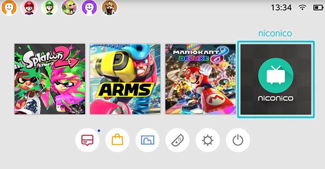 Nintendo Switch com suporte para NicoNico