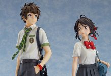 Taki Tachibana e Mitsuha Miyamizu pela Good Smile Company