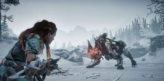 Horizon Zero Dawn: The Frozen Wilds mostra Scorcher