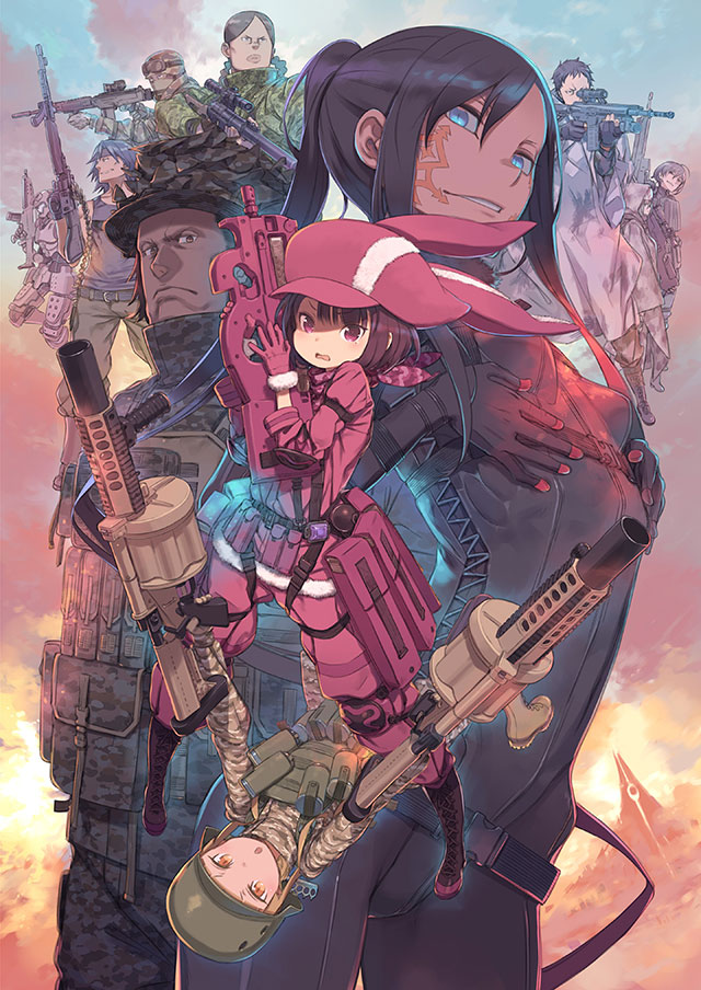 Anime de Sword Art Online Alternative Gun Gale Online em Abril