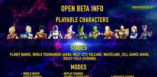 Detalhes sobre a Beta aberta de Dragon Ball FighterZ