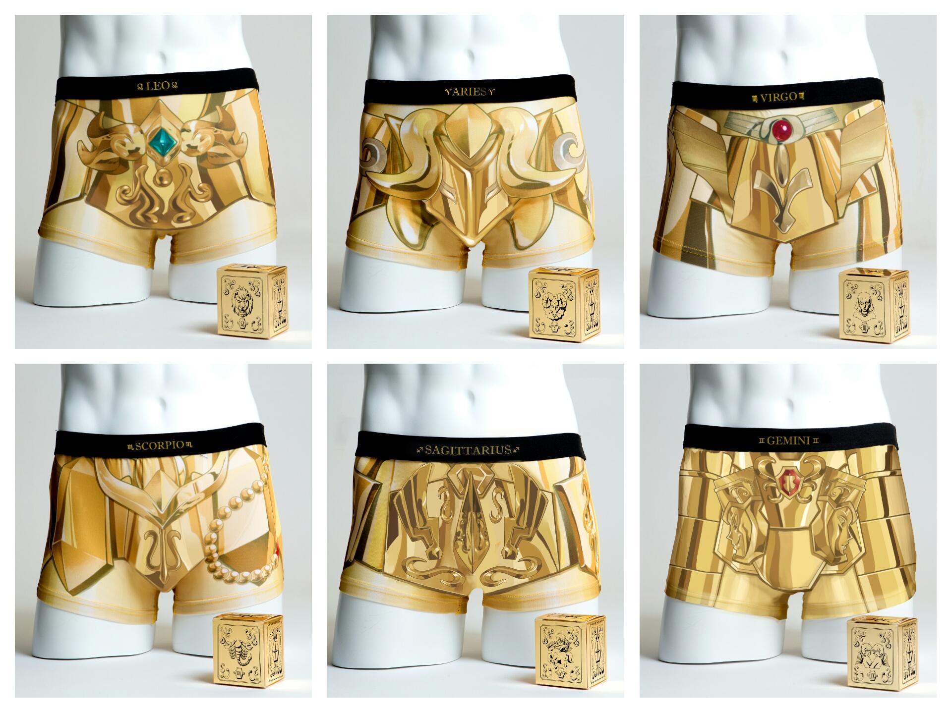 Cavaleiros do Zodíaco ganha linha de cuecas dos Cavaleiros de Ouro