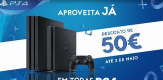Desconto de 50€ em todas as PS4!