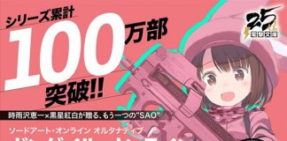 Sword Art Online Alternative Gun Gale Online com 1 milhão de cópias