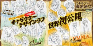 Design de personagens do anime The Promised Neverland