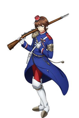 Takuya Eguchi como Chassepot, baseado no Chassepot de 1866, o principal armamento francês na Guerra Franco-Prussiana