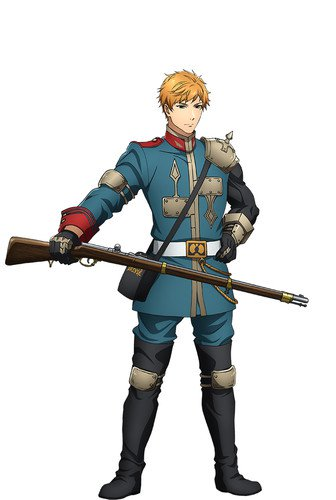 Takuya Satō as Dreyse, baseado na pistola Dreyse da Prússia, o primeiro rifle de ação rápida do mundo