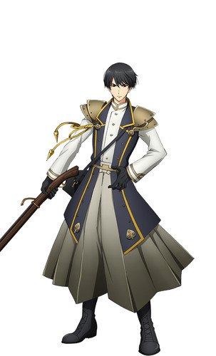 Yuichiro Umehara como Ieyasu, baseado numa arma de fogo usada por Tokugawa Ieyasu