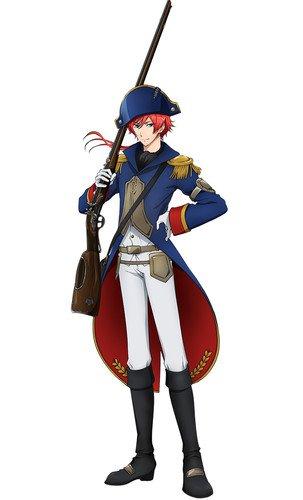 Daisuke Namikawa como Napoleão, espingarda tipo flint-lock do Imperador Napoleão
