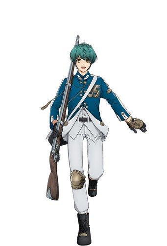 Shouta Aoi como Springfield, a primeira metralhadora americana produzida por sílex tipo flint-lock
