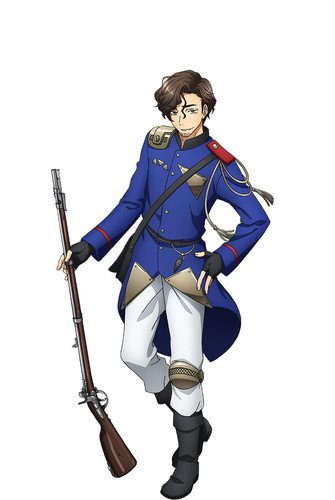 Hiroki Takahashi como Tabatiere, baseado no rifle do exército francês usado na guerra franco-prussiana