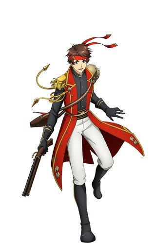 Yoshiki Nakajima como Yukimura, baseado numa arma de fogo usada por Sanada Yukimura