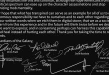 Atores de Guardiões da Galáxia pedem regresso de James Gunn
