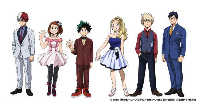 design de personagens de my hero academia  two heroes