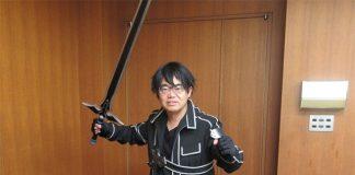 Governador de Aichi com Cosplay de Sword Art Online