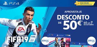 Desconto de 50€ em 2 bundles PS4 com FIFA 19
