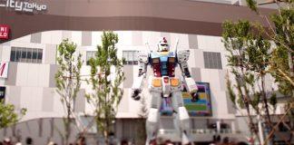 Gundam à escala real móvel em 2020
