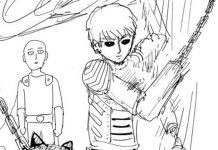 Criador de One-Punch Man celebra trailer da 2ª temporada com desenho