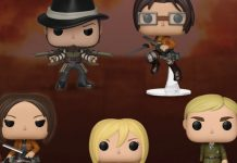 Novos Funko Pops de Attack on Titan