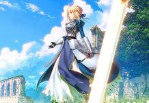 Imagem comemorativa dos 15 anos de Fate/stay night