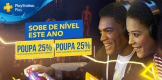 PlayStation Plus com 25% de desconto