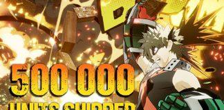 My Hero One's Justice com mais de 500 mil cópias