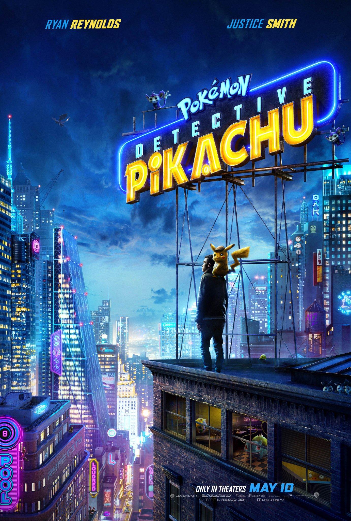 Detective Pikachu ganhar novo trailer e poster