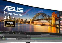 ASUS anuncia monitor curvo profissional ProArt PA34VC