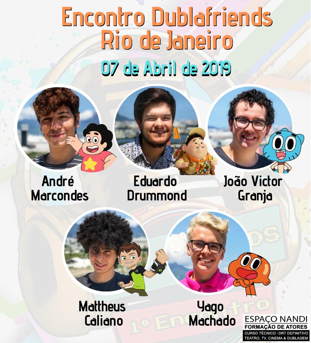 Evento Dublafriends ocorre em abril no Rio de Janeiro