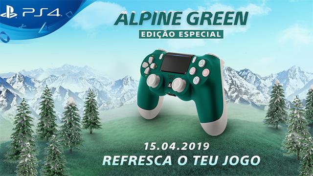 PlayStation revela DUALSHOCK 4 Alpine Green