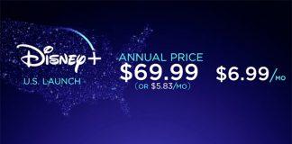 Disney+ a 12 de Novembro por $6,99
