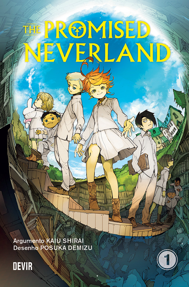Esta é a capa portuguesa de The Promised Neverland