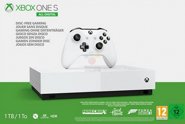 Xbox One S digital a 7 de Maio