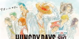 Novos Designs e ocupações dos personagens de One Piece no anúncio de Cup Noodle