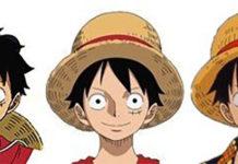 A evolução do design de Luffy em One Piece ao longo dos anos