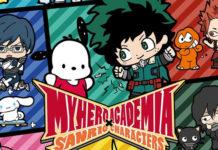 My Hero Academia em colaboração com a Sanrio