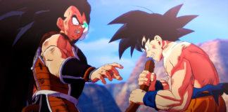 Screenshots de Nappa e Raditz em Dragon Ball Z: Kakarot