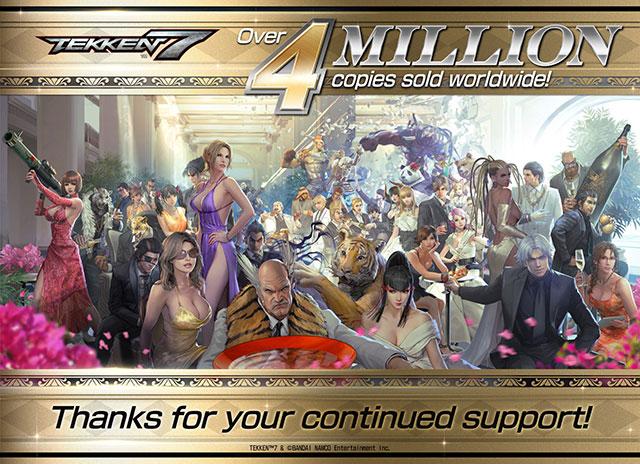 Tekken 7 já vendeu 4 milhões de cópias