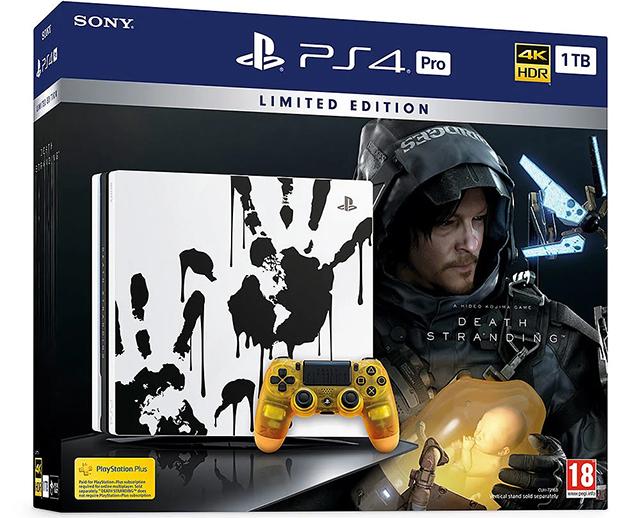 Caixa da Playstation 4 Pro de Death Stranding