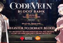Nos USA podem ganhar Code Vein se doarem sangue