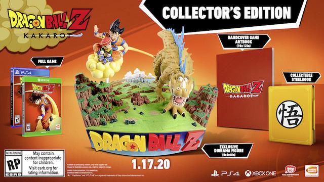 Imagem da edição de colecionador de Dragon Ball Z: Kakarot