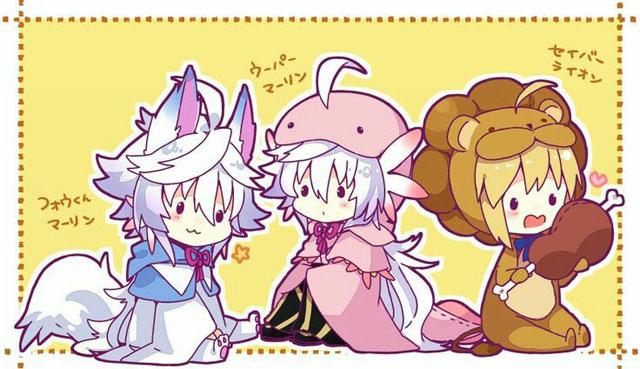Da esquerda para direita: Merlin Fou, Merlin Salamandra e Saber Lion.